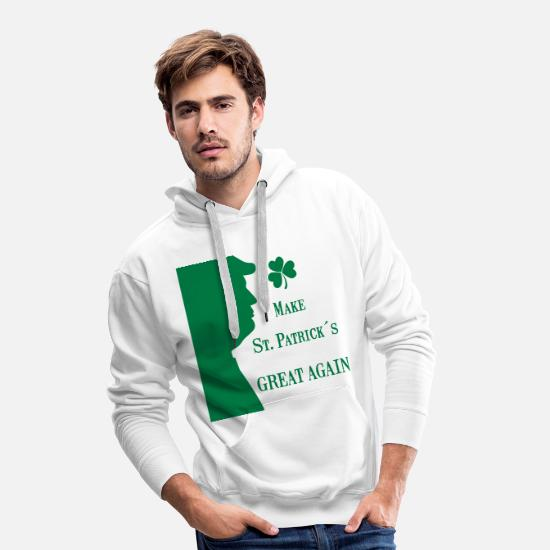 Irish Pullover & Hoodies - Make St. Patrick's Great Again - Männer Premium Hoodie Weiß
