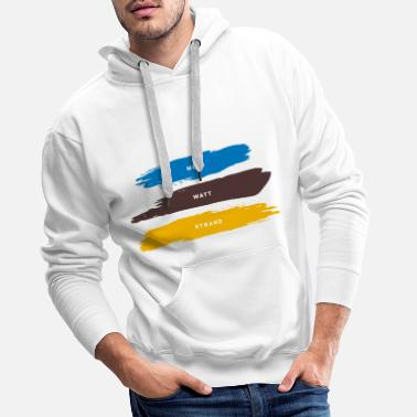 Beach, watts, sea - Men's Premium Hoodie