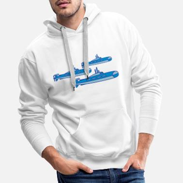 Boat squadrons group banding many 3 cool submarine swim - Men's Premium Hoodie