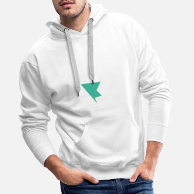 Abstract Shape Colorful Shapes Abstract shape in turquoise - Men's Premium Hoodie