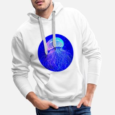 Jellyfish Jellyfish in a bubble - Men's Premium Hoodie