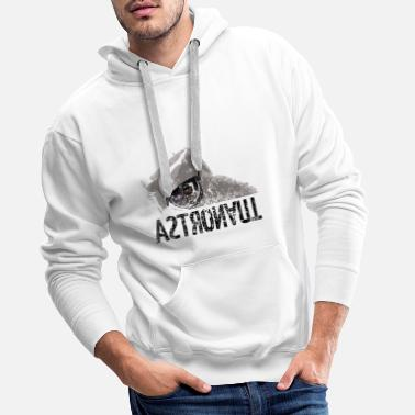 Black White Galaxey Astronaut black white - Men's Premium Hoodie