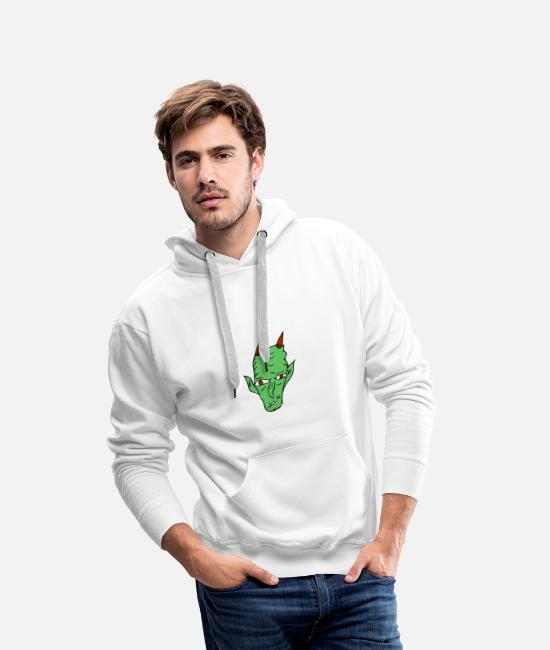 Undead Hoodies & Sweatshirts - monster - Men's Premium Hoodie white