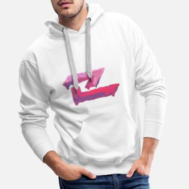Smudge Smudged Pink - Men's Premium Hoodie