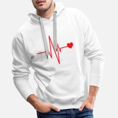 t-shirt with red heart valentines day gift - Men's Premium Hoodie