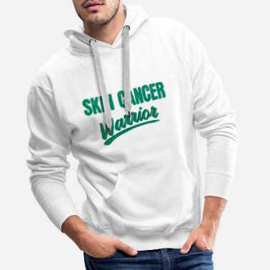 Skin Cancer Skin cancer fighter treatment therapy saying - Men's Premium Hoodie