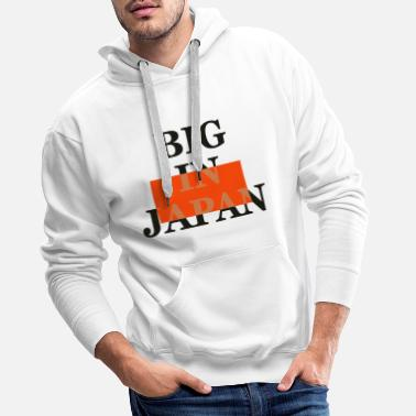 Hablar big on the net + your blog etc - Sudadera con capucha premium hombre