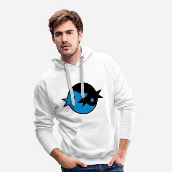 Zen Hoodies & Sweatshirts - zen tweet Yin Yang Birds (2c) - Men's Premium Hoodie white