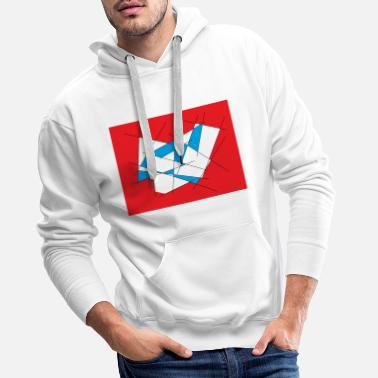 Red White And Blue Red-white-blue - Men's Premium Hoodie