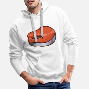 Fillette Filet de saumon - Sweat à capuche premium Homme