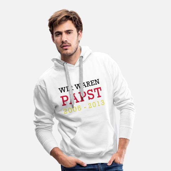 Vatican Sweat-shirts - WE WERE POPE - Sweat à capuche premium Homme blanc