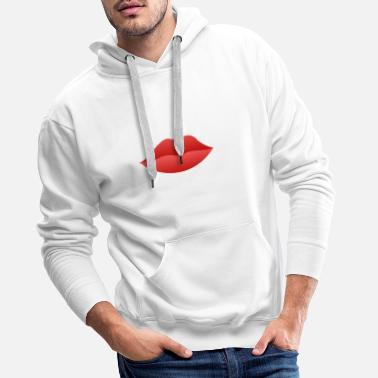 Red Lip - Men's Premium Hoodie