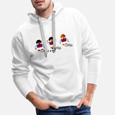 Football Soccer Claret and Blue - Men's Premium Hoodie