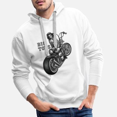Schrauber Biker Shirt Big toys pin up custom chopper - Männer Premium Hoodie