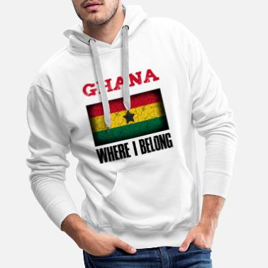 Kumasi Ghana Where I Belong | Accra Kumasi gift idea - Men's Premium Hoodie
