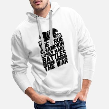 Offence American football sport saying champion - Men's Premium Hoodie
