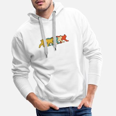 Carnivores Vintage Retro Pop Art Lynx Animal Gift Idea - Men's Premium Hoodie