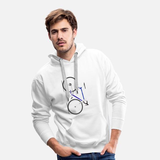 Course Cycliste Sweat-shirts - Vélo - Sweat à capuche premium Homme blanc