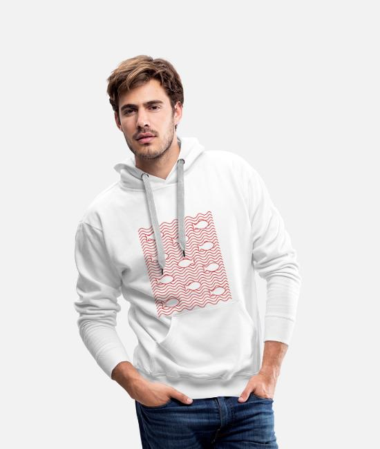 Waves Hoodies & Sweatshirts - fish - Men's Premium Hoodie white