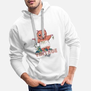 Design Contest Winners Vintage hamster - Men's Premium Hoodie