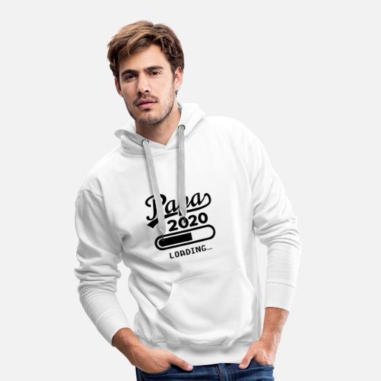 Offspring Hoodies & Sweatshirts - Daddy 2020 Loading .. Pregnant parents baby gift - Men's Premium Hoodie white