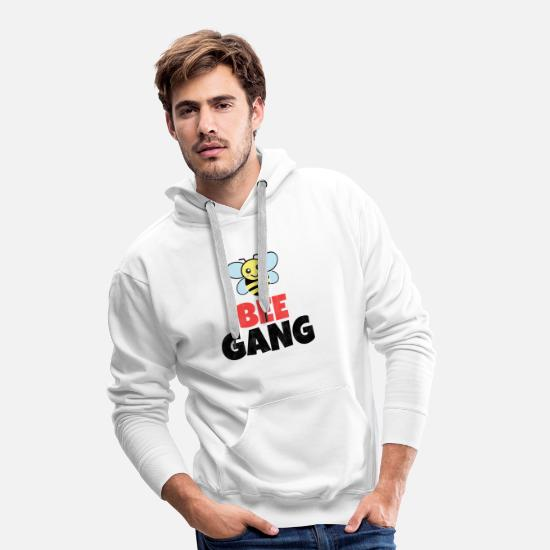 Rap Sweaters & hoodies - Bee Gang Bees Save the Environment Honinggeschenk - Mannen premium hoodie wit