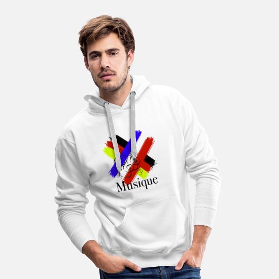 Birthday Hoodies & Sweatshirts - Germany France flag clef - Men's Premium Hoodie white
