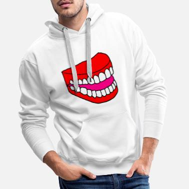 Dent Dentition dents - Sweat à capuche premium Homme