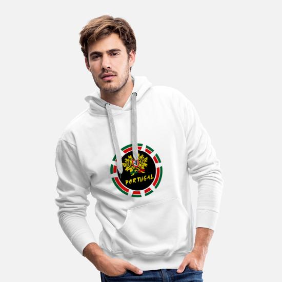 Gift Idea Hoodies & Sweatshirts - Portugal Crest Circle / Lisbon Porto Angola - Men's Premium Hoodie white