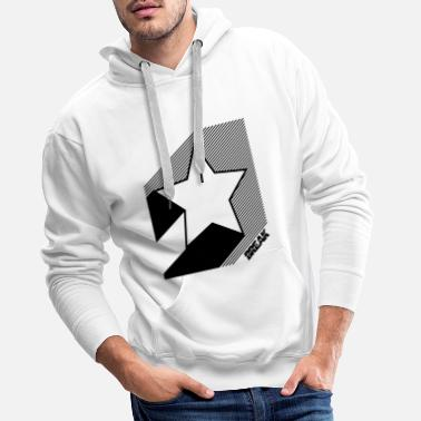 Clubbers Old School Star print in black. - Men's Premium Hoodie