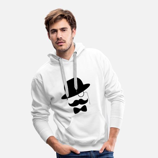 Gangster Hoodies & Sweatshirts - gangster sir - Men's Premium Hoodie white