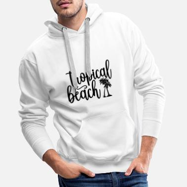 Dolphin tropical beach - Men's Premium Hoodie