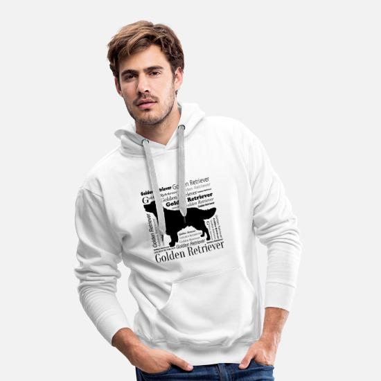 Love Hoodies & Sweatshirts - Golden Retriever - Men's Premium Hoodie white