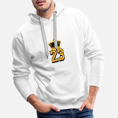 Basket numéro 23 LeBron James - Sweat à capuche premium Homme