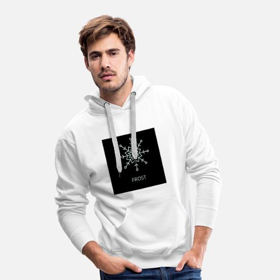 Glace Sweat-shirts - GEL - Sweat à capuche premium Homme blanc