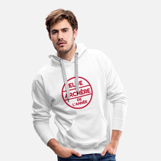 Play Hoodies & Sweatshirts - Archery Archer Bogenschießen Tir à l'arc - Men's Premium Hoodie white