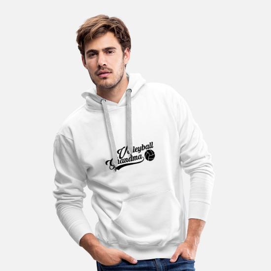 Ball Hoodies & Sweatshirts - Volleyball grandma grandma gift - Men's Premium Hoodie white