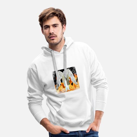Colin Sweat-shirts - castiel - Sweat à capuche premium Homme blanc
