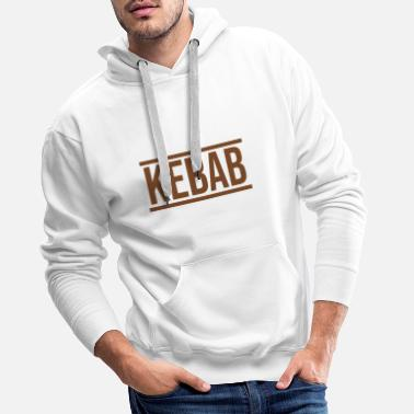 Couple Kebab fast food restauration rapide - Sweat à capuche premium Homme