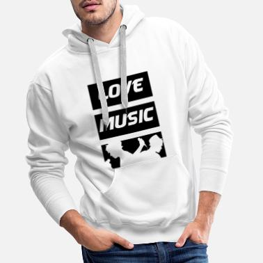 Music Is Life Love Music - Mannen premium hoodie
