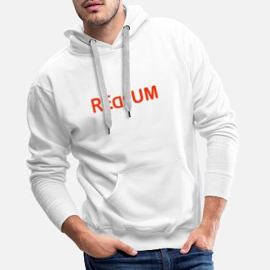 Humorous Sayings Redrum - Men's Premium Hoodie