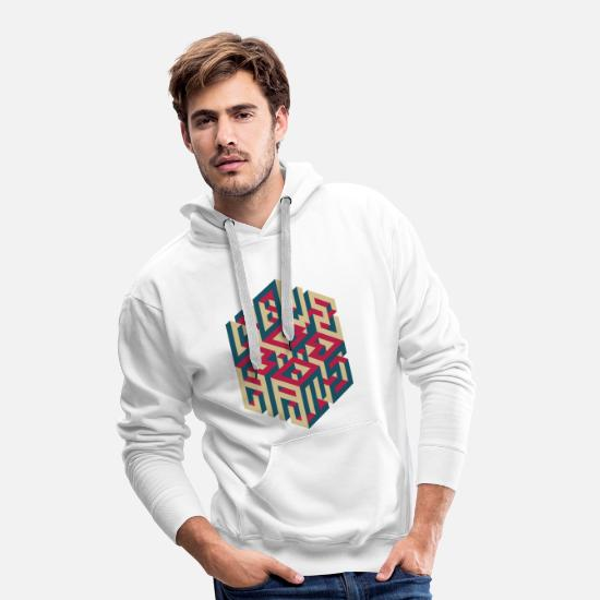 Typo Collection V2 Hoodies & Sweatshirts - LOVE/HATE - Men's Premium Hoodie white