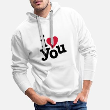 i love you - i heart you - Men's Premium Hoodie