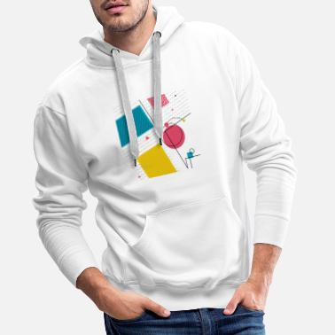 Abstract Shape Colorful Shapes Colors shapes abstract - Men's Premium Hoodie