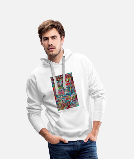 Pop Hoodies & Sweatshirts - 2020 graffiti and trumpet - Men's Premium Hoodie white