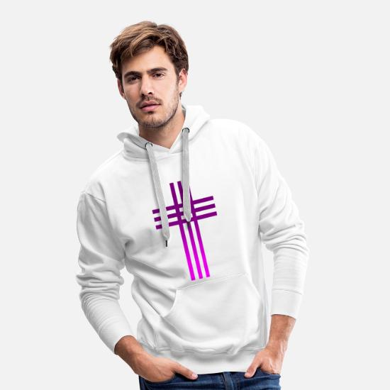 Christianity Hoodies & Sweatshirts - Christianity Collection - Men's Premium Hoodie white