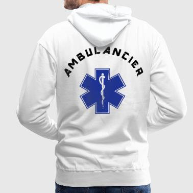 ambulancier logo 3 - Sweat-shirt à capuche Premium pour hommes