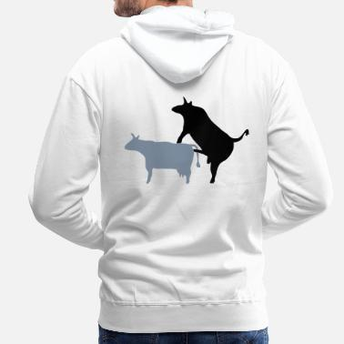 Reproduction taureau_reproduction - Sweat-shirt à capuche Premium pour hommes