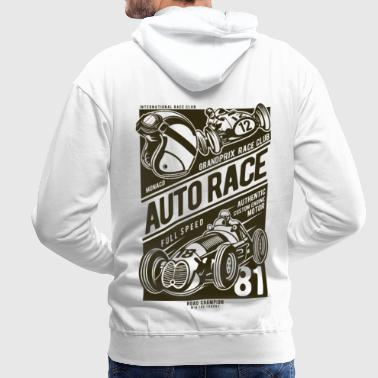 Course automobile - Sweat-shirt à capuche Premium pour hommes