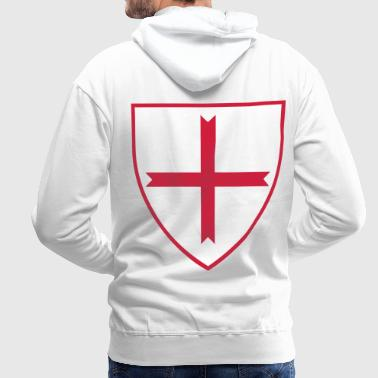 knights templar cross - Sweat-shirt à capuche Premium pour hommes